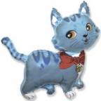 Шар Милый котёнок голубой