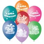 "М 12"" Паст+Декор (растр) 4 ст с рис С Днем Рождения Детская тематика"