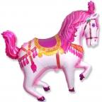 Шар Лошадь цирковая фуксия