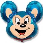 Мощный мышонок синий