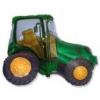Шар Трактор зеленый