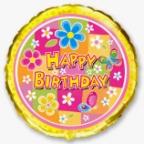 Круг / Цветочки С Днем рождения