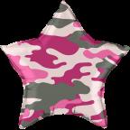 """Р18"""" Камуфляж розовый звезда"""
