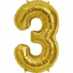 """Цифра """"3"""" Золото / Three"""