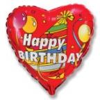 Шар Сердце / Колпачок С днём рождения