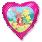 Сердце / Девочка-Клубничка в саду