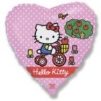 Сердце / Хелло Китти на велосипеде