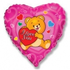 Сердце / Влюбленный счастливый медвежонок