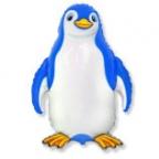 Шар Счастливый пингвин синий