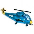 Вертолет синий