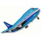 Самолет синий