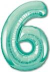 Шар ЦИФРА 6 Slim бискайский зеленый