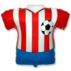 Футболка красно-белая