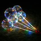"""Шар 15"""" Сфера 3D, Deco Bubble, в комплекте со светящей нитью и палкой-ручкой,1шт"""
