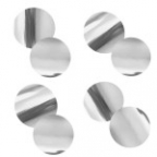 Конфетти Круги фольг серебро 2см 300гр/уп