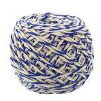 Шнур хлопковый Бело-Синий 2 нити / 50 м