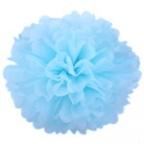 Помпон из бумаги голубой