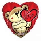 """K Сердце 622 Любовь Медвежонок с сердцем 18""""/45см"""