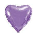 Сердце Металлик Сиреневый / Lilac