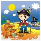 Шар Скатерть п/э Маленький пират 130 х 180 см/уп