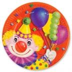 Тарелка Клоун с шарами 17см 6шт/уп
