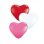 Шар Сердце Пастель+Декоратор ассорти 3-х цветное