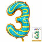 Цифра 3 Пончик в упаковке / Zero