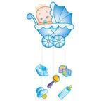 Шар Подвеска С Днем Рождения Малыш голубая