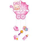 Шар Подвеска С Днем Рождения Малыш розовая
