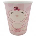 Шар Стаканы бумажные С днем Рождения, Малыш розовые