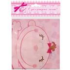 Шар Скатерть полиэтиленовая С днем Рождения, Малыш розовая