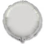 Шар фольгированный Круг Серебро / Silver