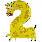 Шар ЦИФРА 2 Жираф