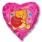 Шар Сердце / Влюбленный счастливый медвежонок