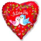 Шар Сердце / Птички Я тебя люблю