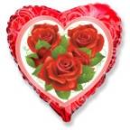 Шар Сердце / Розы
