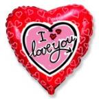 Шар Сердце / Я тебя люблю Сердце на сердце