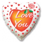 Шар Сердце / Я тебя люблю Роза