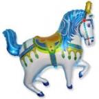 Шар Нарядная лошадь синяя