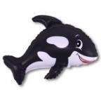 Шар Дружелюбный кит черный