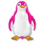 Шар Счастливый пингвин фуксия