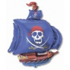 Шар Пиратский корабль синий