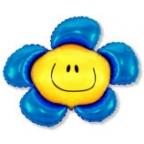 Шар Цветочек синий