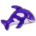 Шар Дружелюбный кит фиолетовый