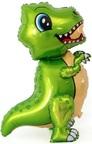 Шар (30''/76 см) Ходячая Фигура, Маленький динозавр, Зеленый