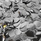 Конфетти фольга, Круги, Серебро, 50 гр, 1см