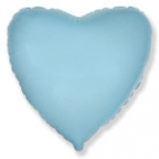 Шар Сердце Пастель Голубой / Blue