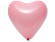 Шар Сердце розовый