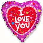 Шар Сердце / Я тебя люблю Сердечки и крестики