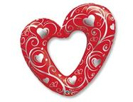 Шар П ФИГУРА 5 Сердце Вензель RED